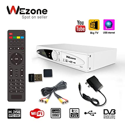 Wezone DVB-S2 Set Top Box 8007 Free to Air Satellite TV: Amazon in