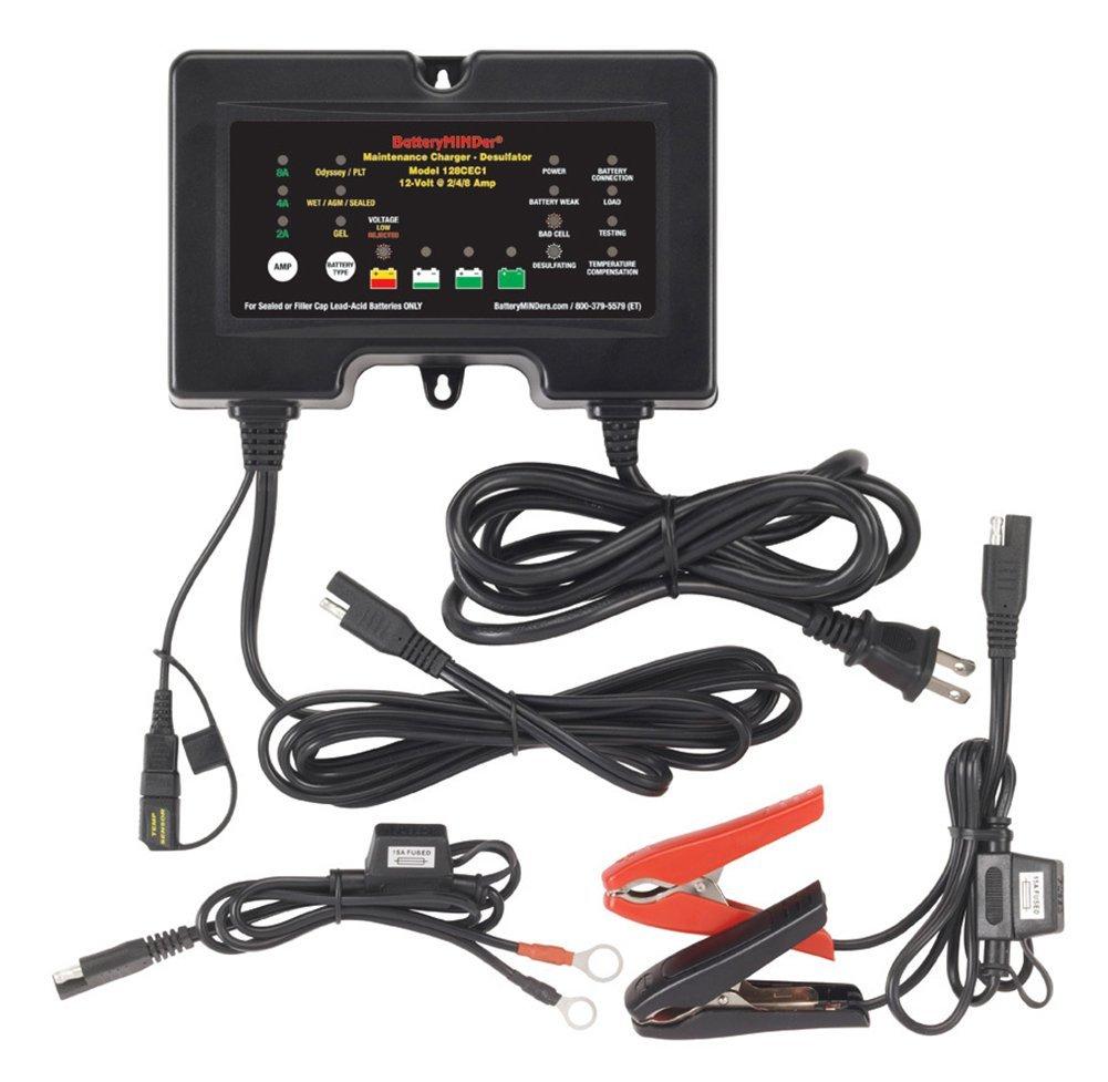 Amazon.com: BatteryMinder 128CEC1: 12V 2/4/8 AMP Battery Charger ...