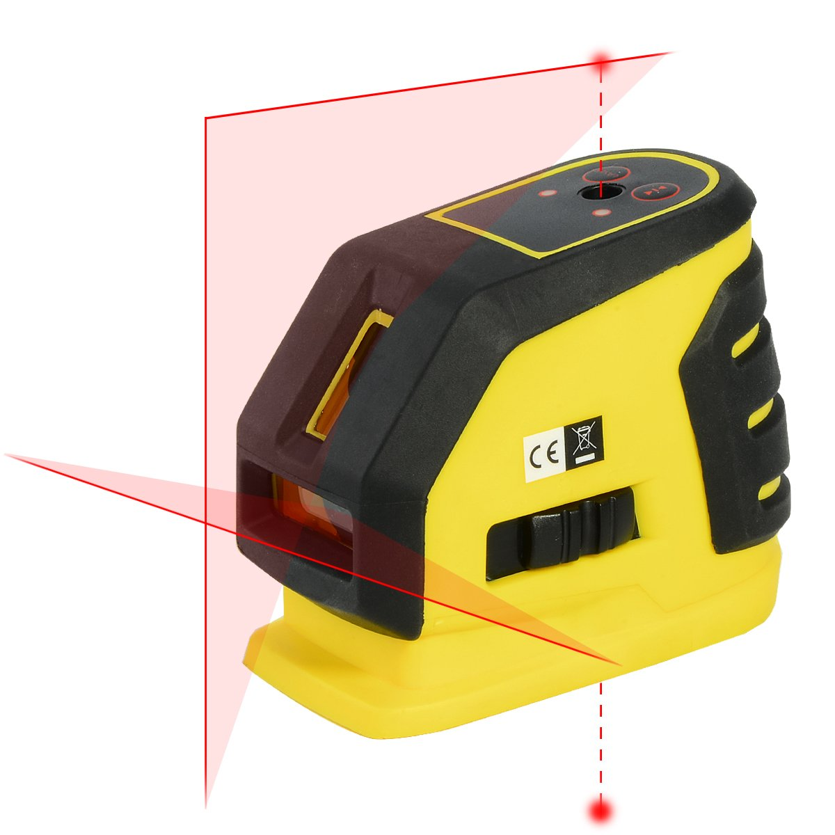 Firecore Professional Self-leveling Red Cross Lines laser level with Two Red Alignment Laser Points Included Magnetic Bracket(Not include 4AA batteries)