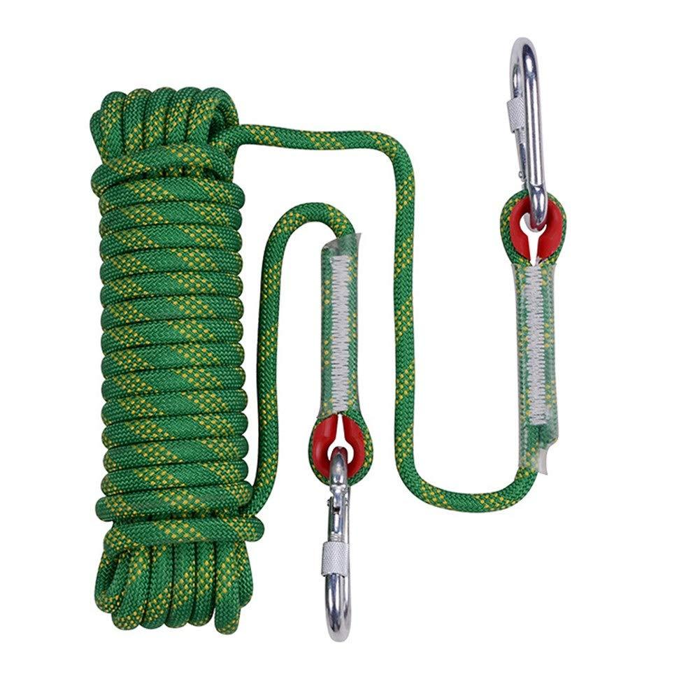 Escalade Corde Corde d'escalade extérieure, Corde d'accessoire de Rappel de Rappel de Haute résistance de 10 mm de diamètre, Utilisation pour la Pratique de l'alpinisme, randonnée en Montagne