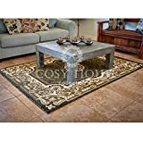 Cosy House Contemporary Area Rugs for Indoors | Persian Living Room Home Decor | Resists Stains, Soil, Fading & Freying | Power Loomed in Turkey, 5'2 x 7'2, Kingdom Sage Green For Sale