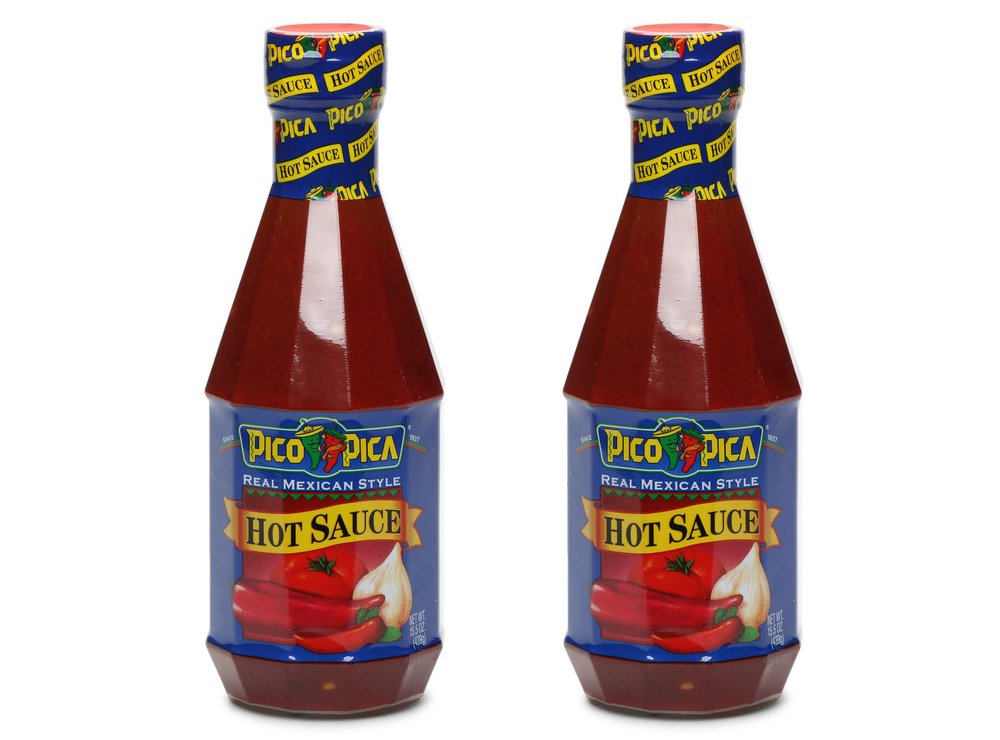 Pico Pica Mexican Hot Sauce 2 Pack - HOT - 15.5 Oz (2 Large Plastic Bottles)
