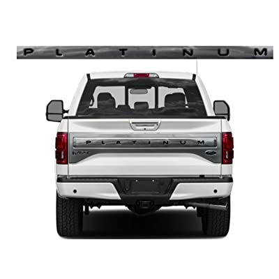 BDTrims Tailgate Raised Letters Compatible with 2015-2020 F-150 Platinum Models (Black): Automotive