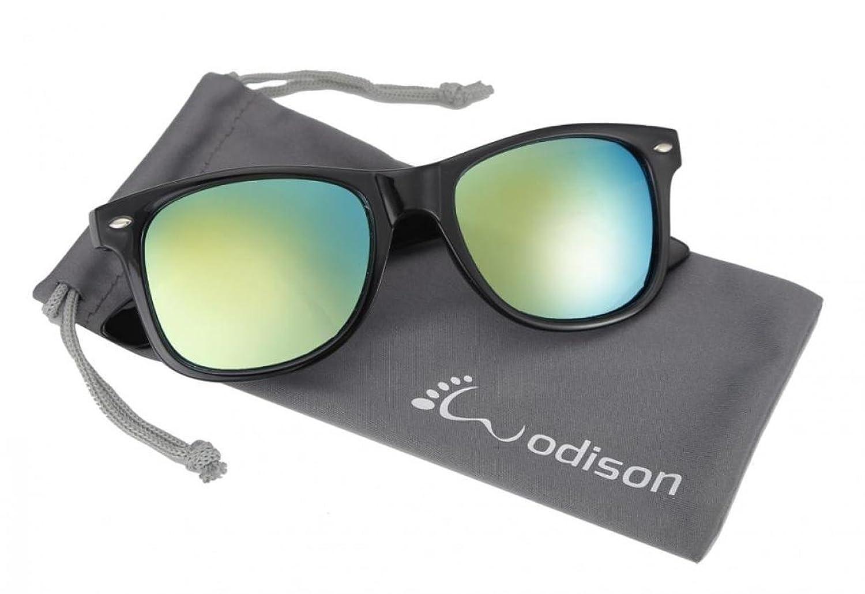 WODISON Retro UV400 Reflektierende Sonnenbrille Voll Mirrored Revo Wayfarer Brillen