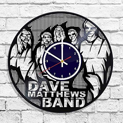 Dave Matthews Band Rock Band Handmade Vinyl Record Wall Clock, Get Unique Bedroom or Nursery Wall Decor - Gift Ideas for Kids and Teens - Unique Art -