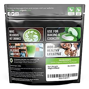 The Oriental Organic Matcha Green Tea Powder Organic-premium Culinary Grade - Usda Vegan Certified-30g 106 Oz Perfect For Baking Smoothies Latte Iced Tea Ice Cream Gluten Sugar Free from The Oriental Organic