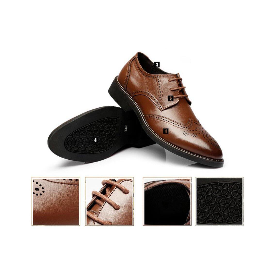 Herren Schuhe Lederschuhe Frühling Herbst formelle Schuhe Herren Bullock Schuhe Komfort Oxfords Formale Geschäft Arbeit Bequeme Mokassins (Farbe   B, Größe   43) 670062