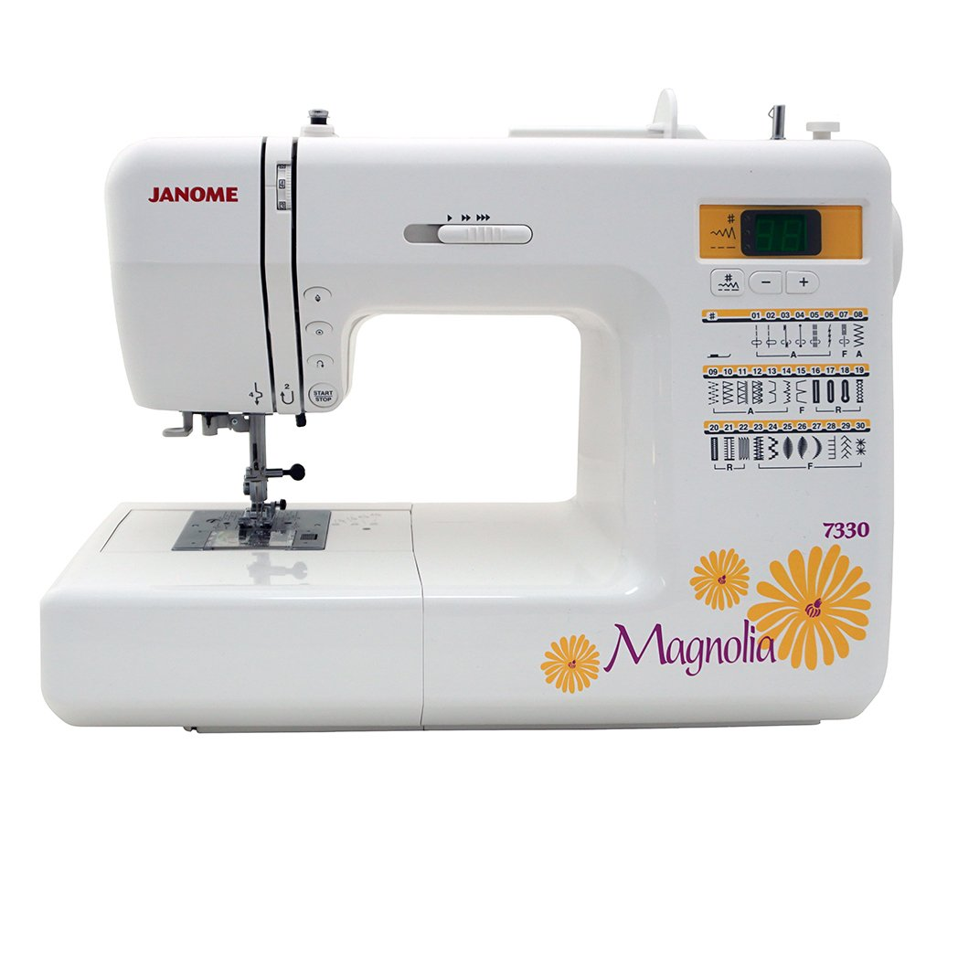Amazon.com: Janome 7330 Magnolia Computerized Sewing Machine with 30  Built-In Stitches: Arts, Crafts & Sewing