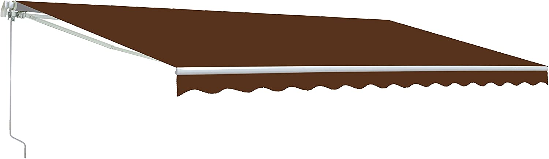 Amazon Com Aleko Aw12x10brown36 Retractable Patio Awning 12 X 10 Feet Brown Garden Outdoor