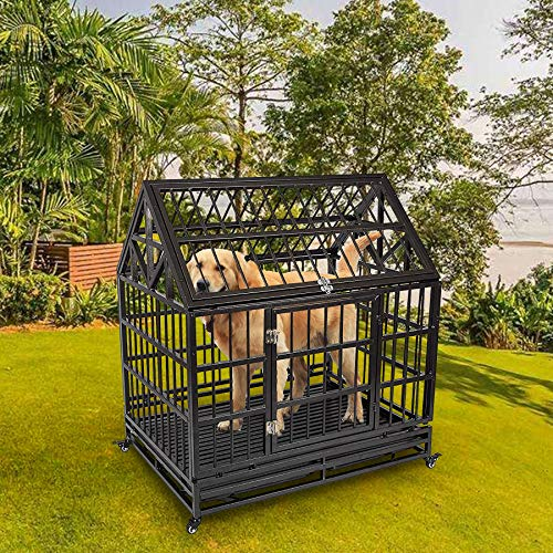 Haige Pet Your Pet Nanny Heavy Duty Dog Crate Cage Kennel Strong Metal for Large Dogs, Easy to Assemble Pet Playpen with Patent Lock & Four Wheels by Haige Pet Your Pet Nanny (Image #6)