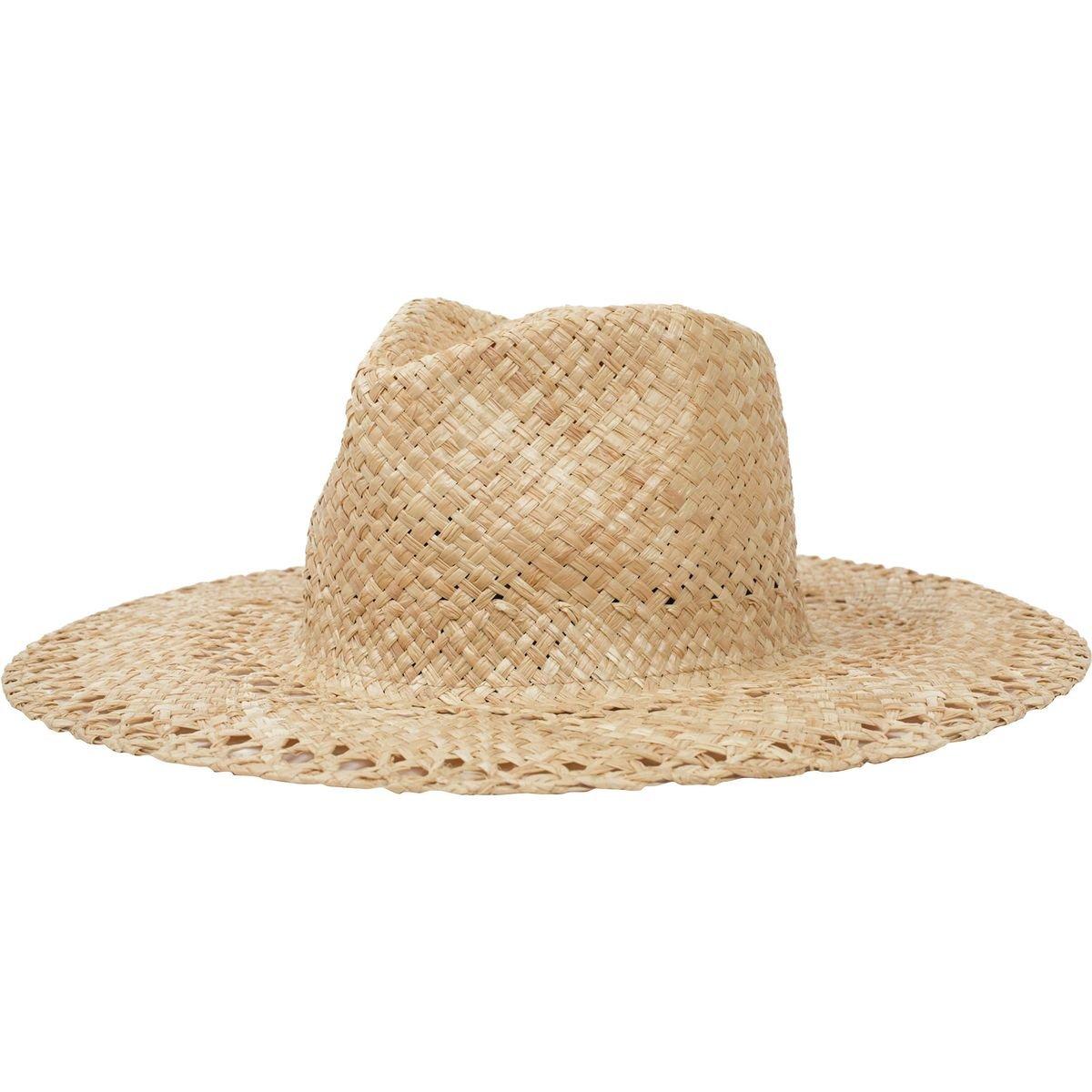 f5030775a93 Brixton Men s Hampton Wide Brim Straw Fedora Hat Brixton Young Men s 00737