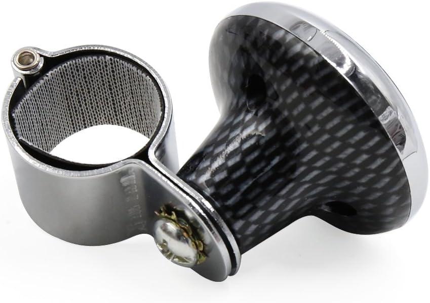 sourcingmap/® Fibra di carbonio corona Design Modello auto Pomello volante manopola di impugnatura di potenza