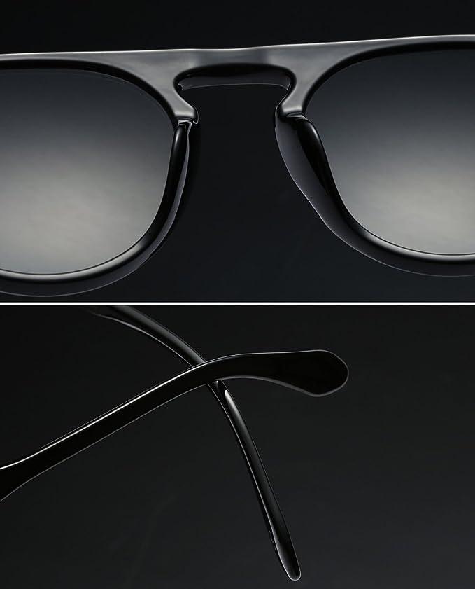 Retro Runde Sonnenbrille Damen Herren Pilot Flüge Einteilige ...