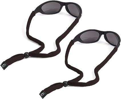 CHUMS Cotton Eyewear Retainer Black Adjustable Sunglasses Lanyard Strap 4-Pack