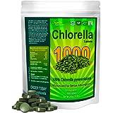 Chlorella Tablets Mega-Pack 1000 Tablets Cracked Cell, Organic, Raw, Non-GMO. 100% Pure Chlorella Pyrensoidosa. Green…