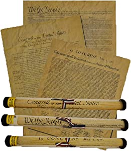 Documents of Freedom Bundle. Full Size Declaration of Independence, United States Constitution and The Bill of Rights.
