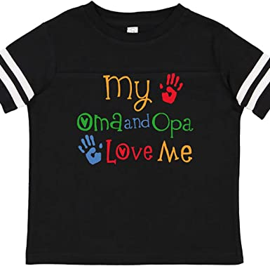 inktastic Oma and Opa Love Me Gift Toddler Long Sleeve T-Shirt
