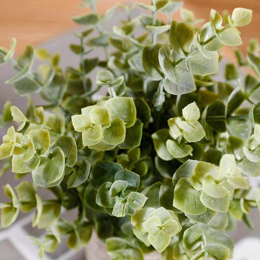 Coxeer Artificial Potted Plant Eucalyptus Leaves Artificial Potted Plant Decorative Simulated Eucalyptus Fake Plant False Leaf for Wedding Party Decoration Photo Booth Props