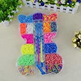 The Originall Rainbow Loom, Colorful Loom Kit Refills Set for Kids Bracelet Weaving DIY Crafting with 3800pcs Rubber Bands,48pcs S Clips,1 Big Crochet,1 Big Hook,6 Small Hook