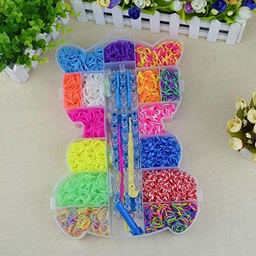 The Originall Rainbow Loom, Colorful Loom Kit Refills Set for Kids Bracelet Weaving DIY Crafting with 3800pcs Rubber Bands,48pcs S Clips,1 Big Crochet,1 Big Hook,6 Small Hook by The Originall