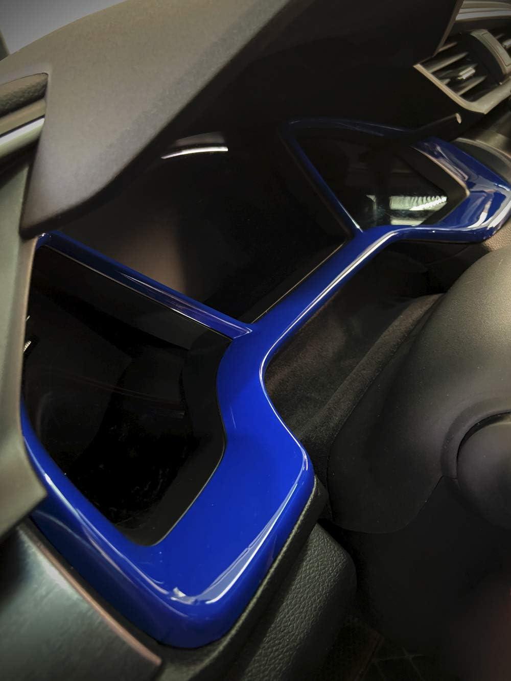 Blue Car Dashboard Decorative Frame Dial Rings Trim Frame For Honda 10th Gen Civic 2016 2017 2018 2019 2020