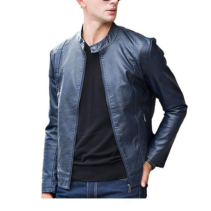 Hombres chaqueta de cuero de invierno Harrington Biker pelo grueso PU Colocar fleece fino abrigo rompevientos ClairSue ropa: Amazon.es: Ropa y accesorios