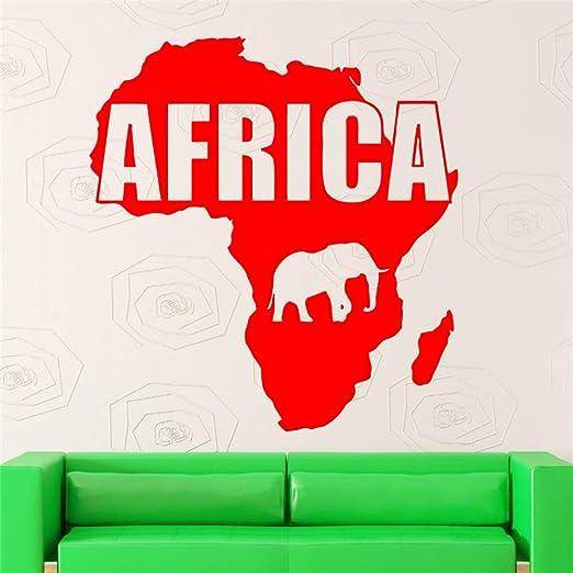 yaoxingfu Diseño Moderno Mapa de África Etiqueta de la Pared ...