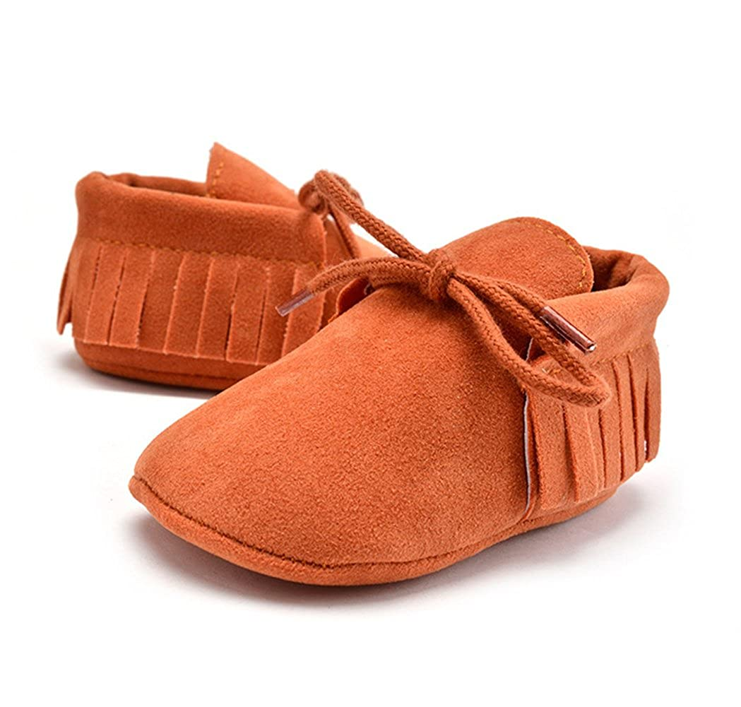 YIBLBOX Infant Baby Moccasins Soft Sole Tassels Prewalker First Walkers Anti-Slip Toddler Boys Girls Shoes YBBUS-JAQWBBX02