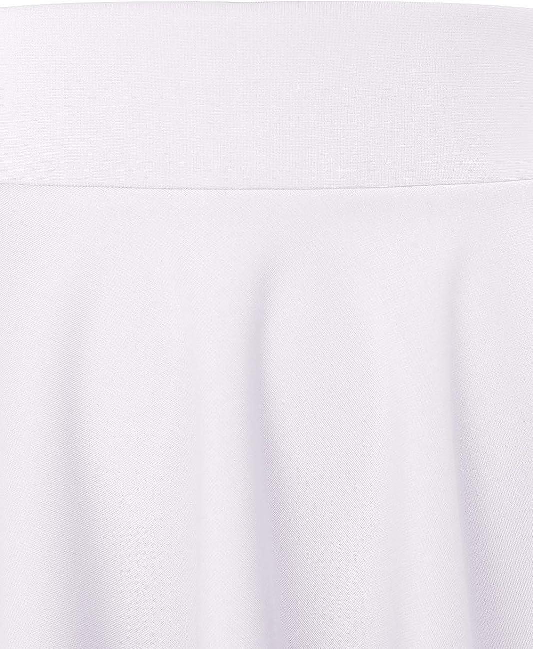 MuaDress Donna Gonna Svasata Anni 50 Moda Mini Corta da Pattinatrice Versatile Elastica Solida Colore Gonna