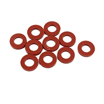uxcell 10Pcs Red 10mm x 1.5mm Silicone Rubber Gasket O Ring Sealing Ring Heat Resistant