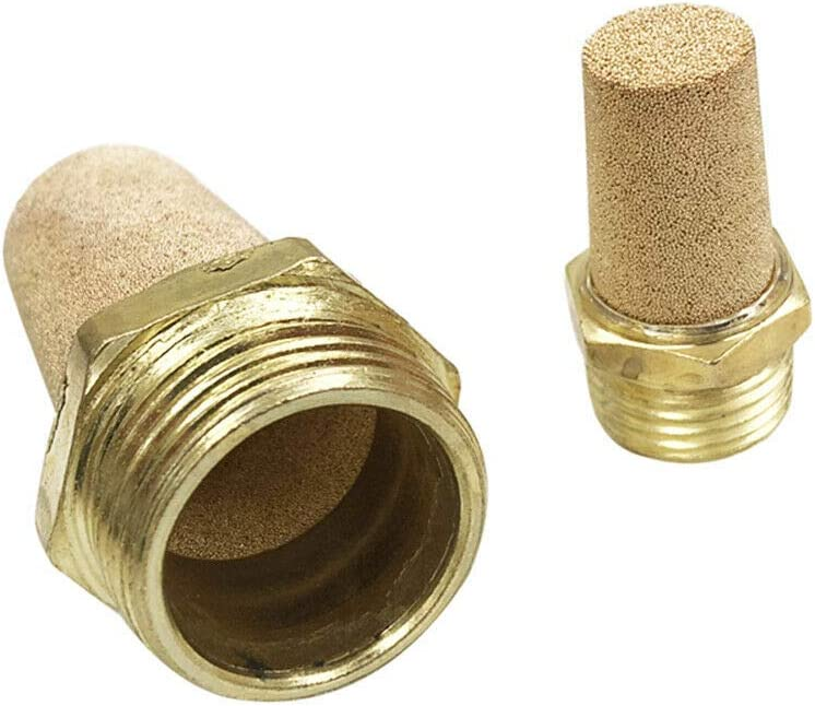 5Pcs Solenoid Valve etc Pneumatic Muffler BE-TOOL 1//2 BSP Noise Filter Brass Male Thread Air Flow Speed Controller for Air Cylinders