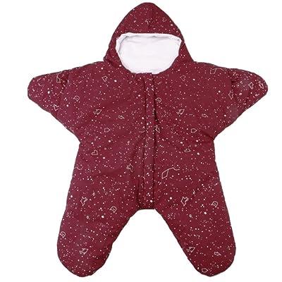 ARAUS-Grenouillère Capuche Ensemble Pyjama Bébé Petite Etoile Naissance Velours Déguisement Animaux Hiver très Chaud 0-1 ans