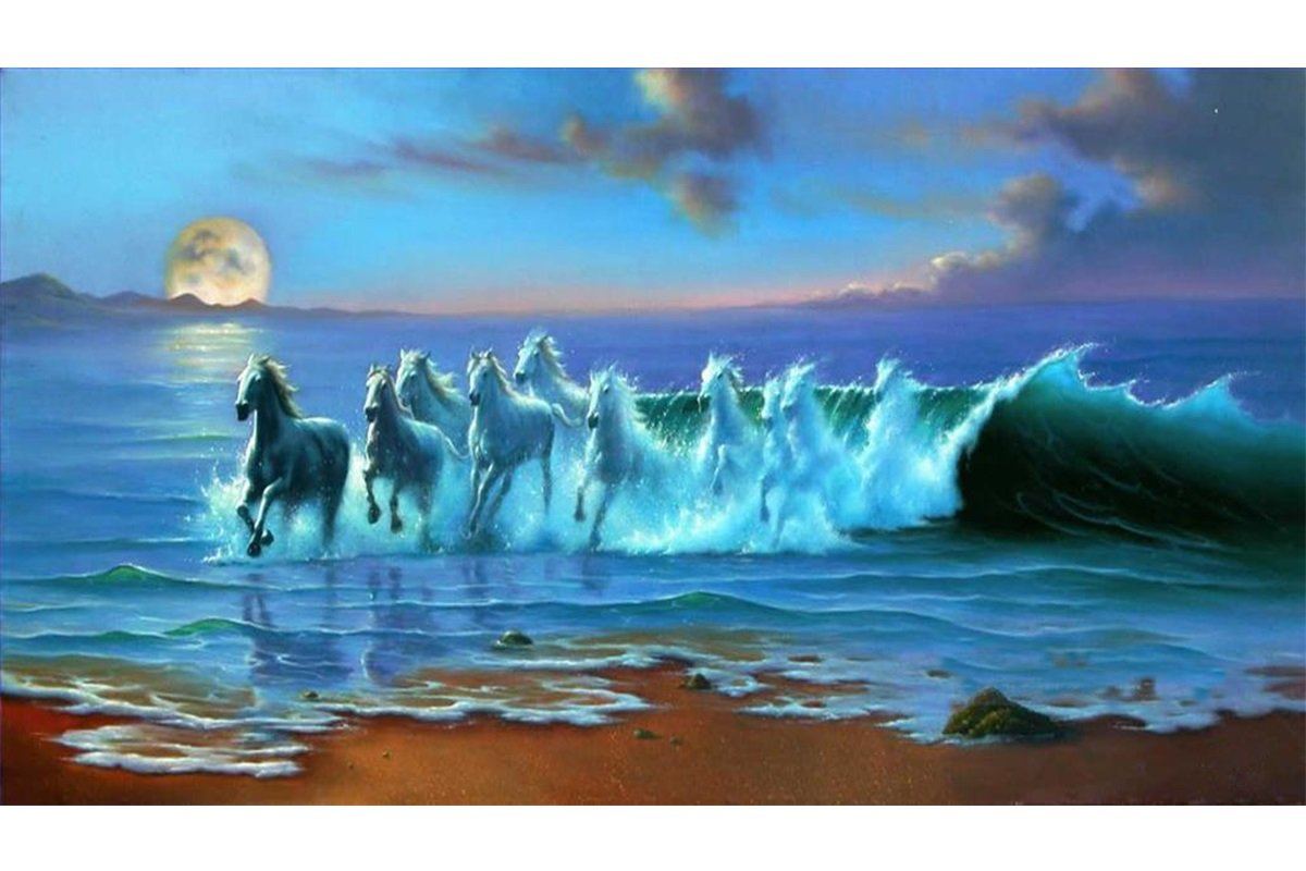 Blxecky 5D DIY Diamond Painting By Number Kits,Horse(12X18inch/30X45CM)