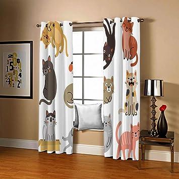 shkdif 3D Kinderzimmer Verdunkelungsvorh/änge Cartoon Baby Elefant,Verdunkelungsvorhang Schlafzimmer Wohnzimmer Dekoration Isolierung L/ärmschutzvorh/änge 220Wx215H cm