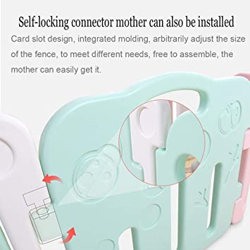 Parque infantil bebé, niños Seguridad Yard Centro de Actividades w / Walk-A través de bloqueo de la puerta, panel de ...