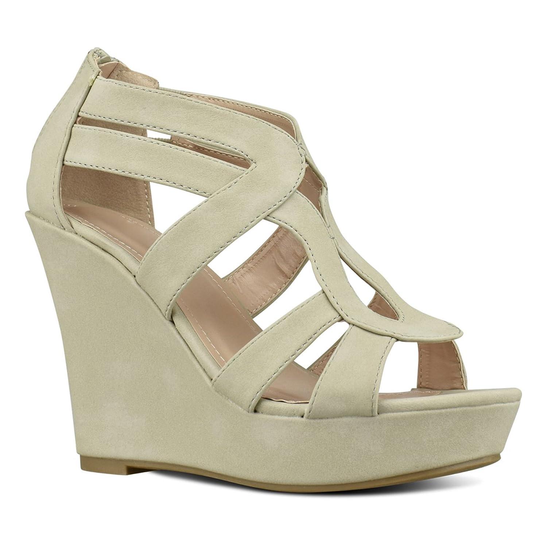 Premier Standard Women's Open Toe Strappy Platform High Heel Wedge Sandals   Summer Women Shoes by Premier Standard