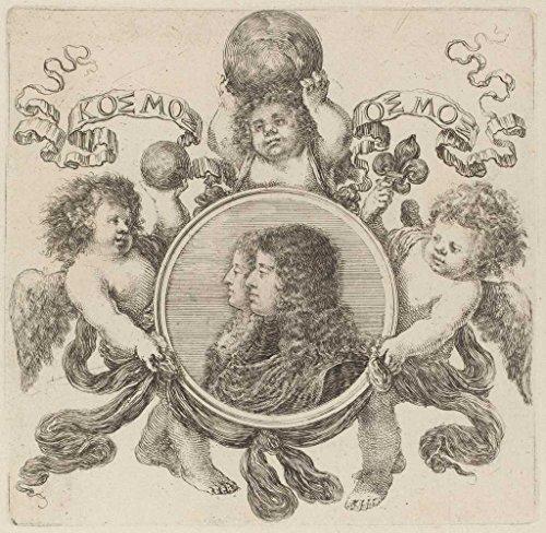 Artist: Stefano Della Bella | Print: Cosimo de Medici, Prince of Tuscany and Marguerite Louise d'Orl'ans | Vintage Work of (Bella Tuscany Prints)