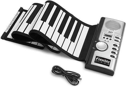 HJJH 61 Llaves enrollables Piano Portátil electrónico de Mano ...