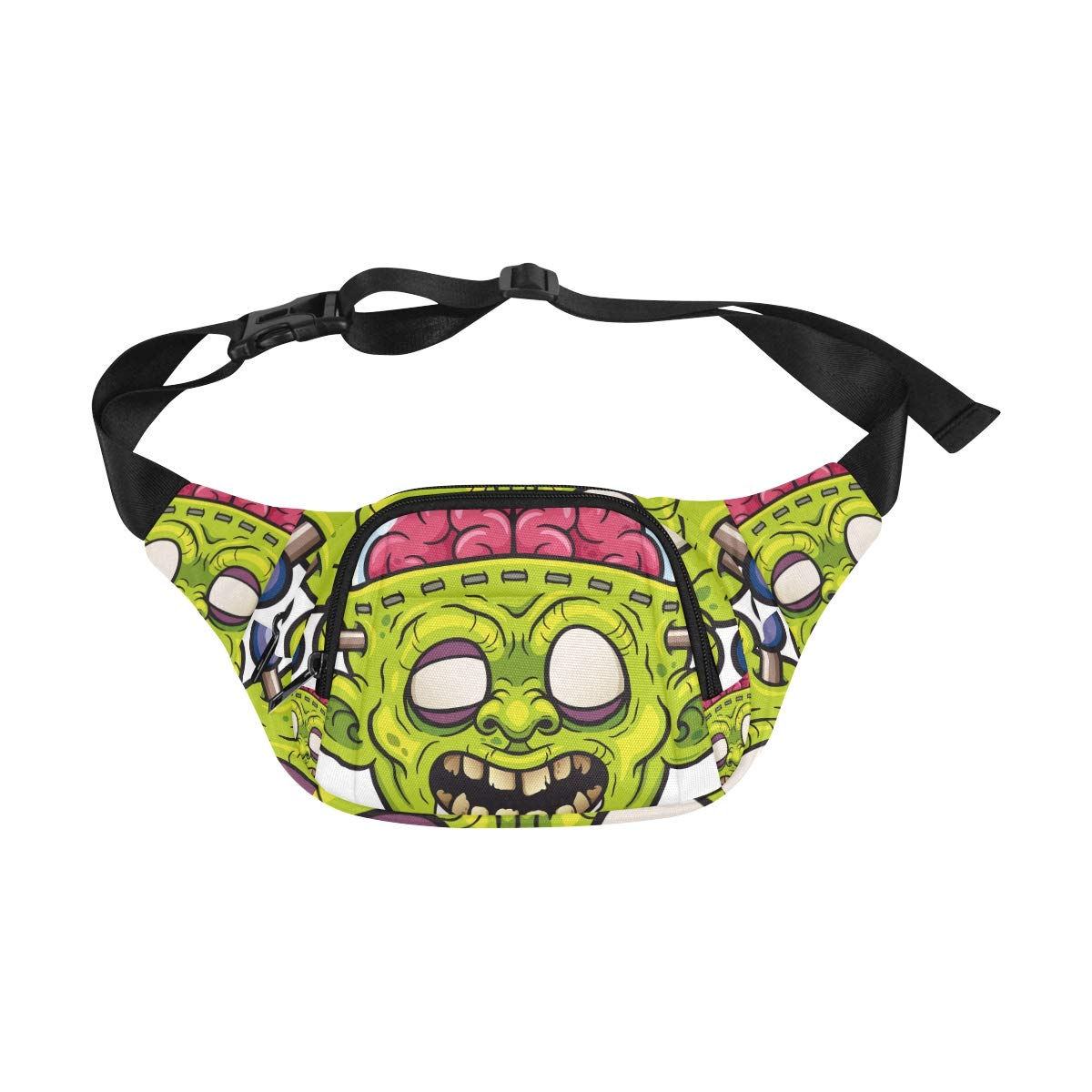 Frightened Creepy Zombie Fenny Packs Waist Bags Adjustable Belt Waterproof Nylon Travel Running Sport Vacation Party For Men Women Boys Girls Kids