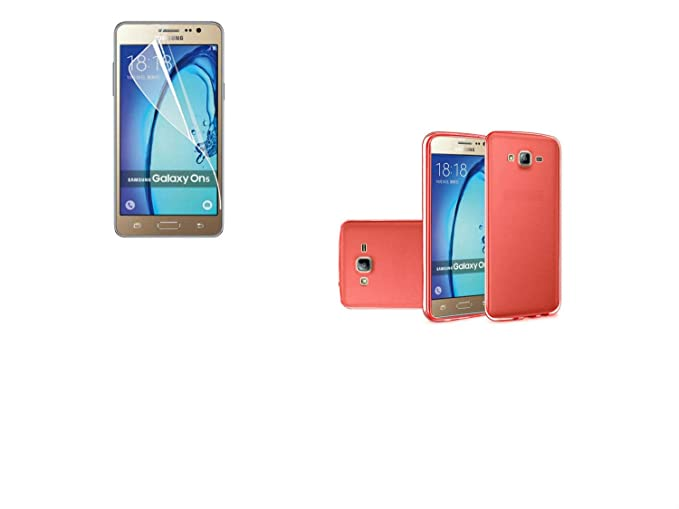 quality design d8397 068af Amazon.com: Film LCD Screen Protector+Slim TPU Rubber Case Cover for ...
