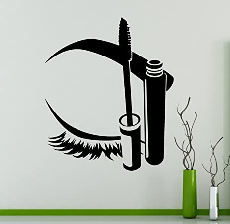Eye Eyelashes Makeup Wall Decal Beauty Salon Vinyl Sticker Sexy Eyes Home Interior Living Room Decor