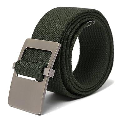 db89aa0bf43 PODOM Homme 7 Couleur Ceinture Tressée Elastique Extensible Belt en Toile  102 cm Vert Longueur