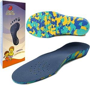 Ailaka Kids Orthotic Cushioning Arch Support Shoe Insoles, Children EVA Foam Inserts for Flat Feet, Plantar Fasciitis