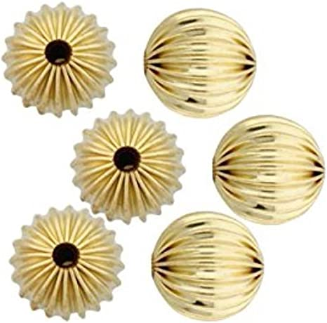 "1//4/"" 50 Gold Bead Caps Flower Petal  6mm Bead Ends Jewellery Making Findings"