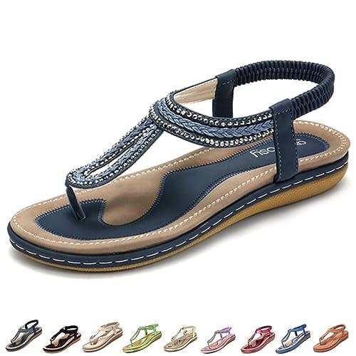 Chaussures nu pieds femme bleu