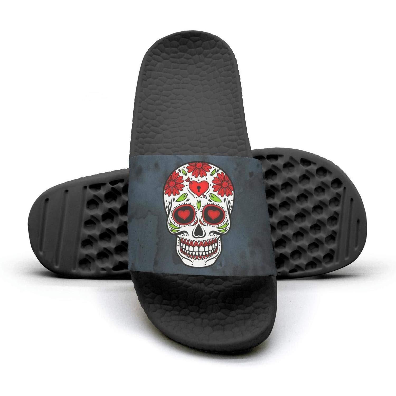 Day Of The Dead Skull flower Heart arrow Slippers Sandals Slippers for Men