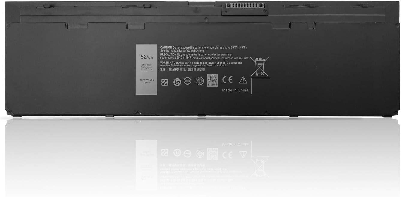 New VFV59 Laptop Battery Replacement for Dell Latitude E7240 E7250 Series Notebook GVD76 WD52H F3G33 HJ8KP W57CV NCVF0 9C26T J31N 451-BBFX 451-BBFW 7.4V 52Wh 4Cell