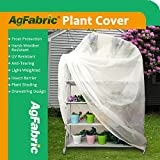 Agfabric Plant Cover Warm Worth Frost Blanket - 0.95 oz Fabric of 72''x60''x12'' Shrub Jacket, 3D Cube Plant Cover for Season Extension&Frost Protection