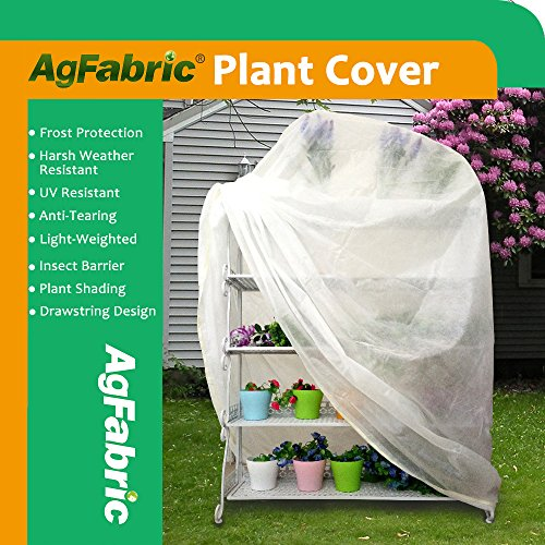 Agfabric Warm Worth Frost Blanket - 0.95 oz Fabric of 72''x72''x12'' Shrub Jacket, 3D Cube Plant Cover for Frost Protection,12 pack by Agfabric (Image #6)