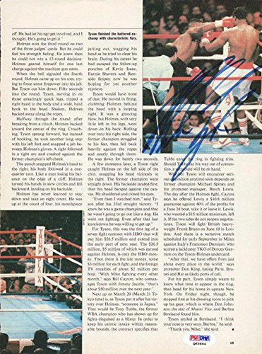 Mike Tyson Autographed Signed Magazine Page Photo Vintage Q65664 PSA/DNA Certified Autographed Boxing Magazines
